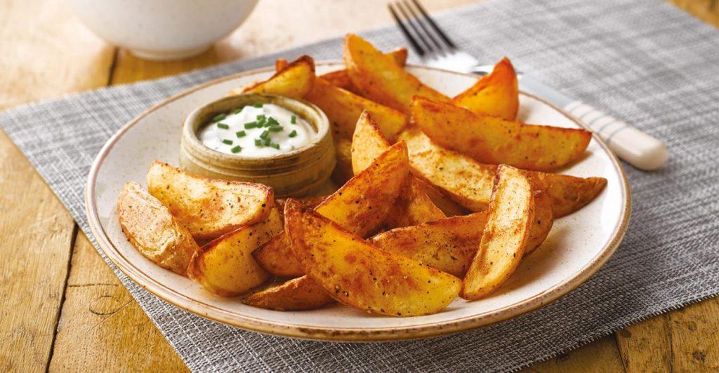 Постное меню: острые картофельные дольки