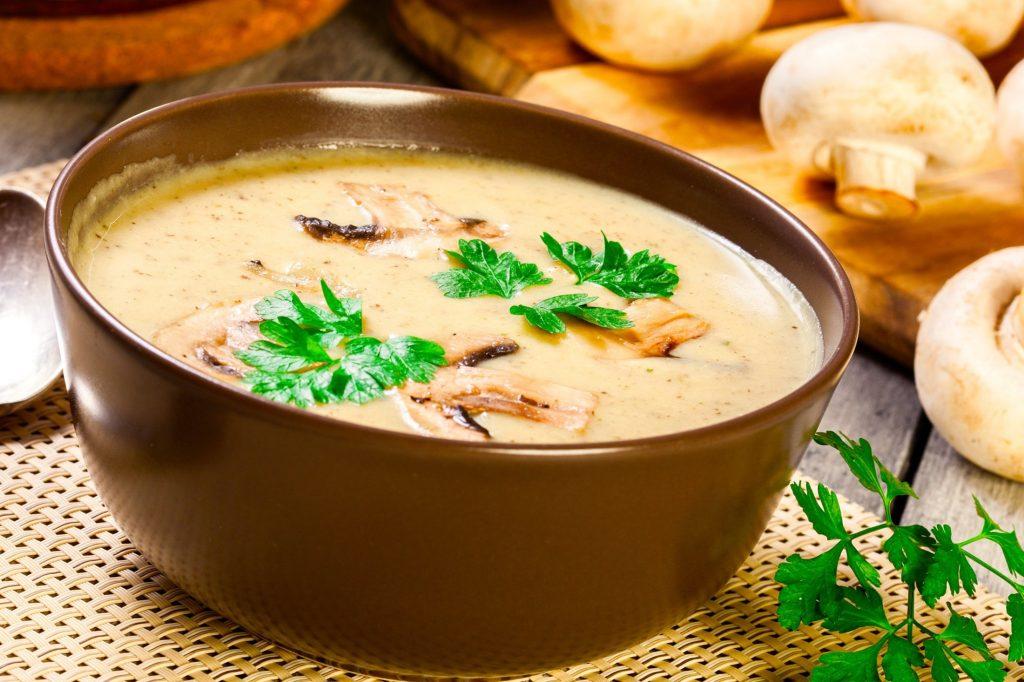 Грибной суп-пюре для правильного питания
